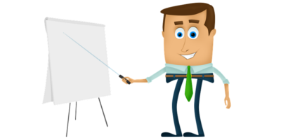 Person with flipchart